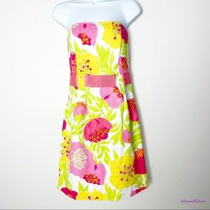 LILLY PULITZER | Floral Printed Strapless Dress